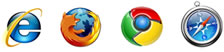 IE Firefix Chrome Safari